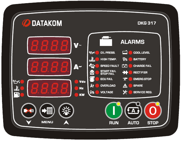 DATAKOM DKG-317 MPU Controller Manual and remote control generator