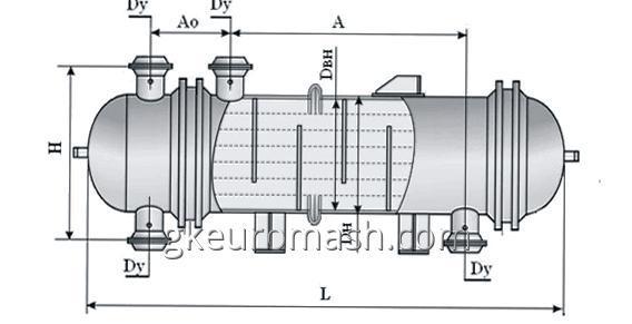 Купить Теплообменный аппарат с неподвижными трубными решетками и температурным компенсатором на кожухе диаметром 800, 1000, 1200 и 1400 мм повышенной тепловой эффективности