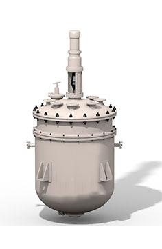 Аппарат стальной эмалированный c механическим перемешивающим устройством