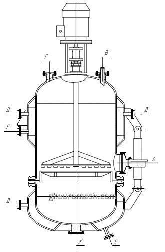 Фильтр эмалированный емкостной с поднимающимся перемешивающим устройством