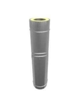 Купить Труба-удлинитель дымоходная утеплённая (сэндвич) нерж/оцинк 130/200мм 0,3-0,5м, 0,6мм