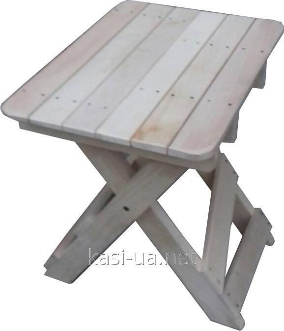 Стульчик раскладной дерев'янный для пикника