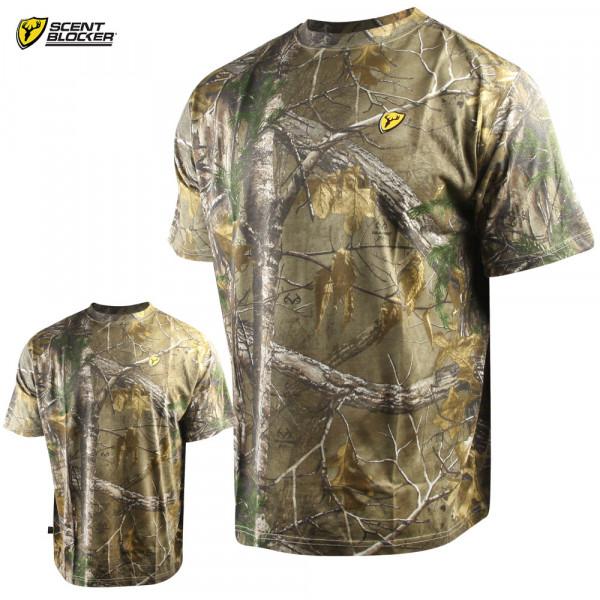 Футболка для охоты и рыбалки Scent Blocker Fused Cotton T-Shirt Realtree Xtra