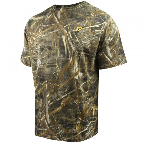 Футболка для охоты и рыбалки Scent Blocker Fused Cotton T-Shirt Realtree MAX-5