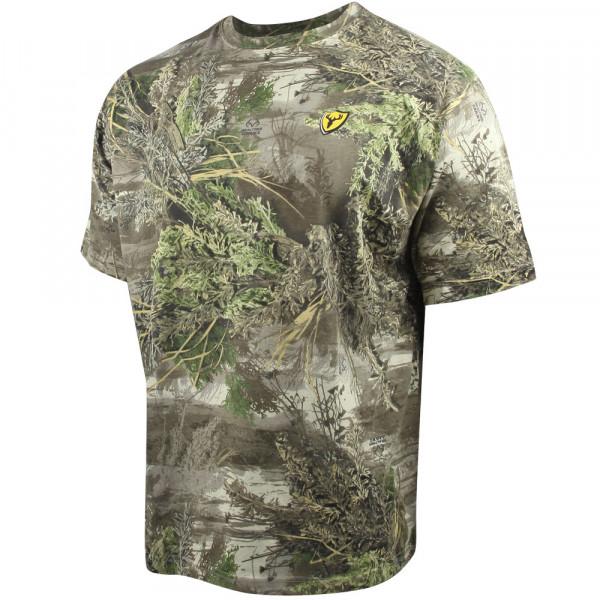Футболка для охоты и рыбалки Scent Blocker Fused Cotton T-Shirt Realtree MAX-1