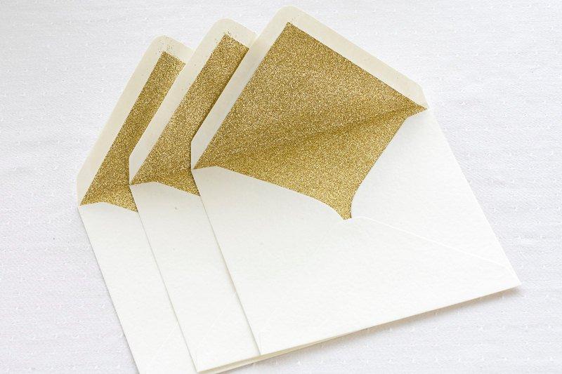 Конверты с вкладышем - золото