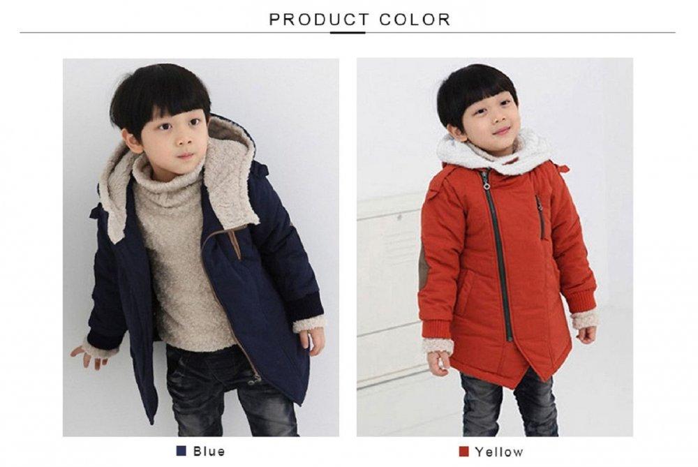 Детские модные и повседневные куртки для мальчиков с капюшоном и длинным рукавом.
