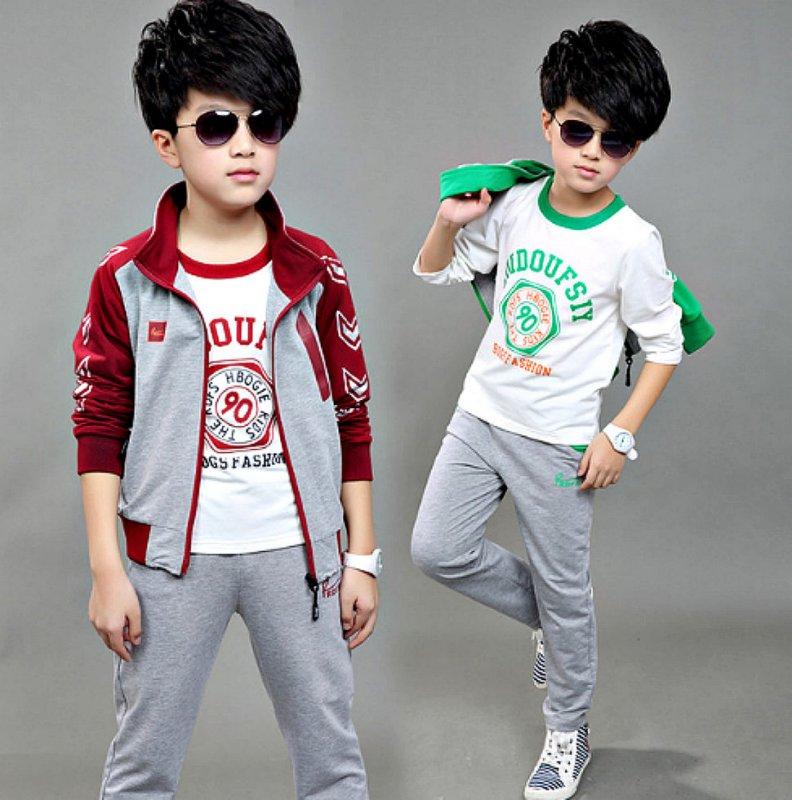 """Спортивный костюм с длинными рукавами из трех частей для мальчиков в стиле """"""""хип-хоп"""""""""""