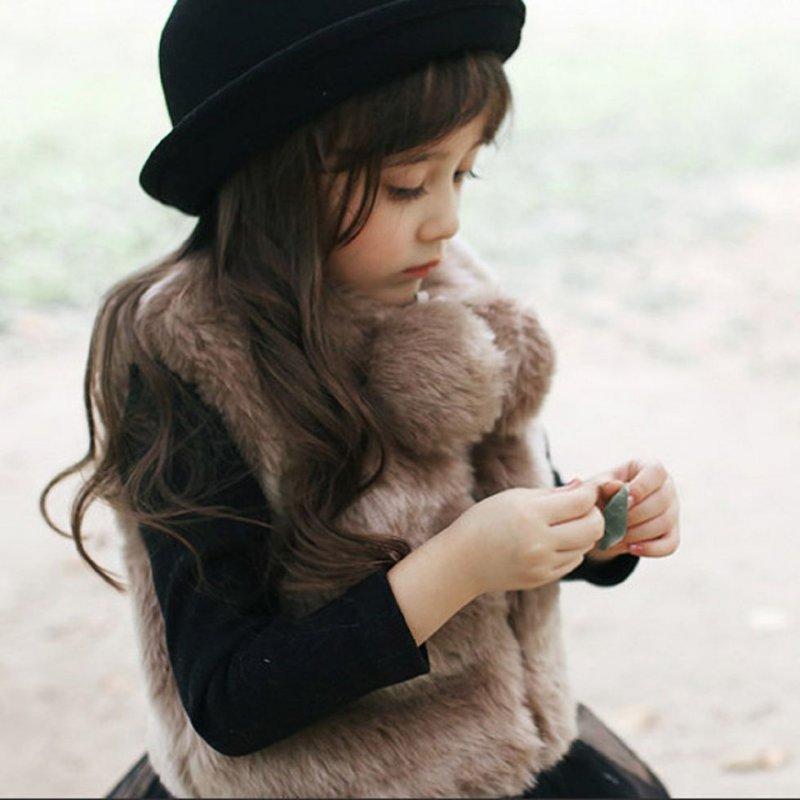 Детские теплые меховые жилетки с искусственного меха животных.