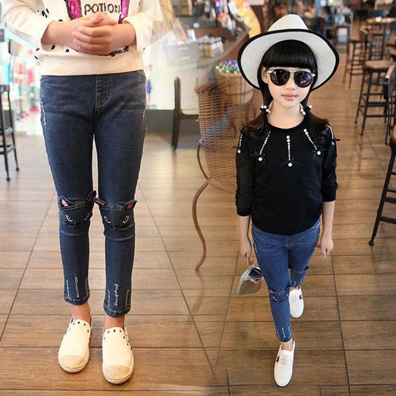 Длинные, толстые леггинсы-(кот джинсы) для девочек зима.