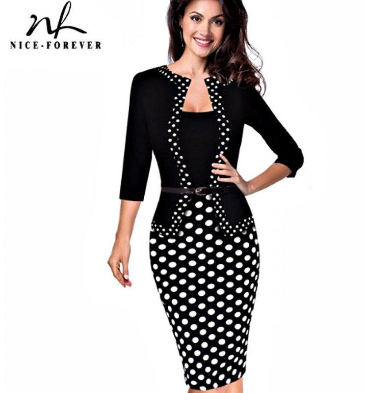Облегающее платье в деловом стиле+подарок.