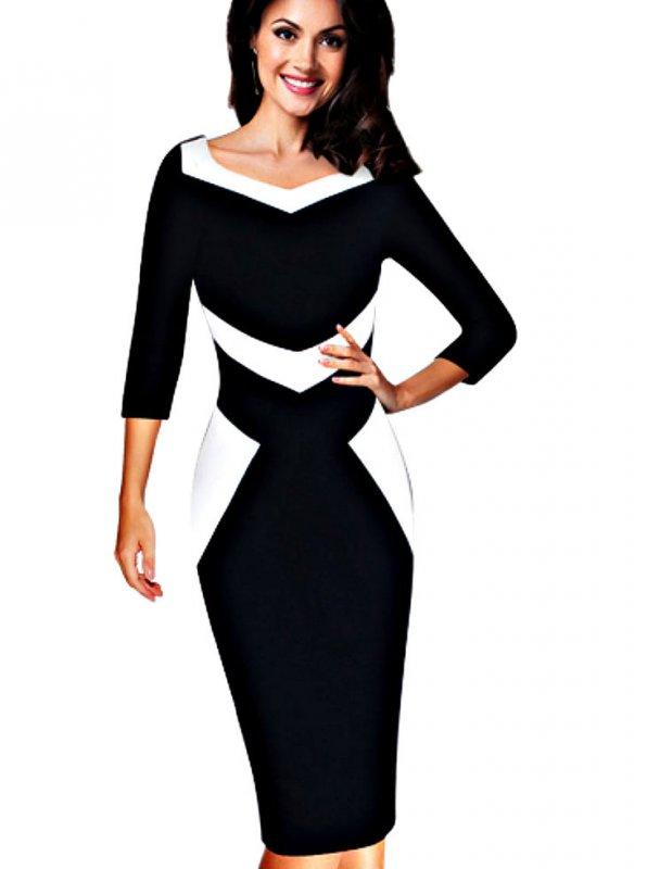 Элегантное офисное женское платье