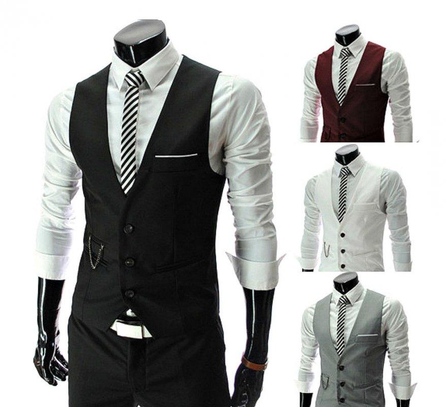 Модный мужской жилет для бизнеса.
