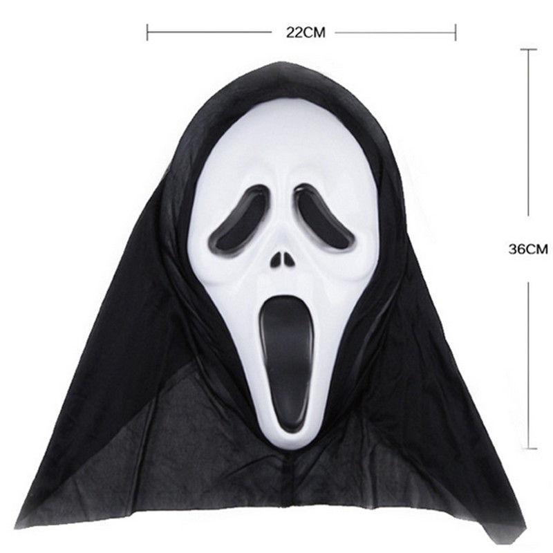 Маскарадная маска-(Череп Призрак)