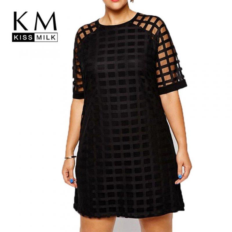 Женские платья с клетчатым узором больших размеров.