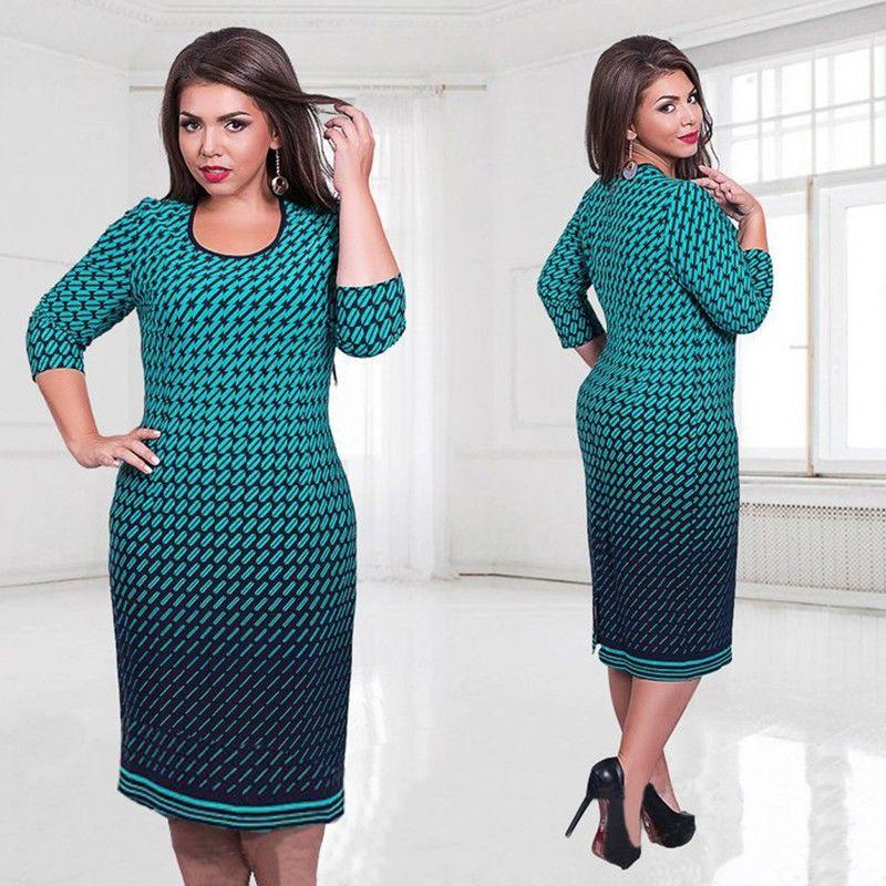 Модное платье больших размеров.