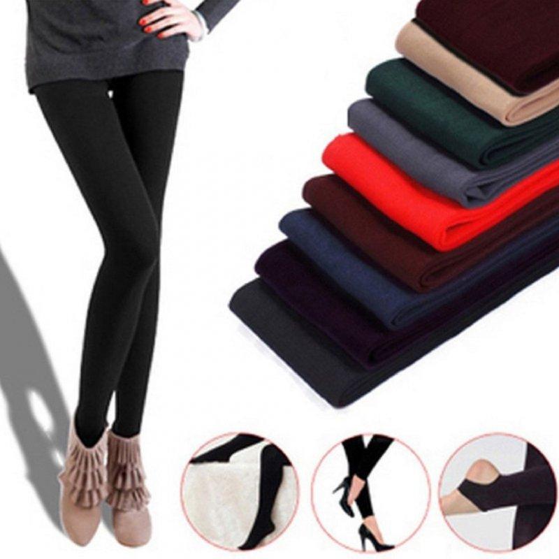 Для женщин зима-осень теплые эластичные женские зимние леггинсы под штаны.