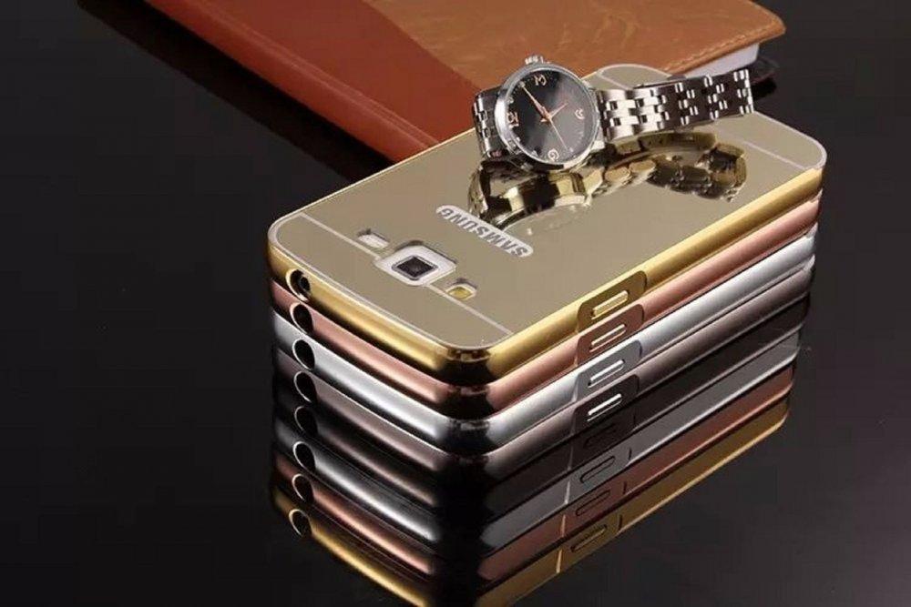 Металлический зеркальный чехол для телефона Samsung Galaxy Grand 2 Duos G7102 G7105 G7106