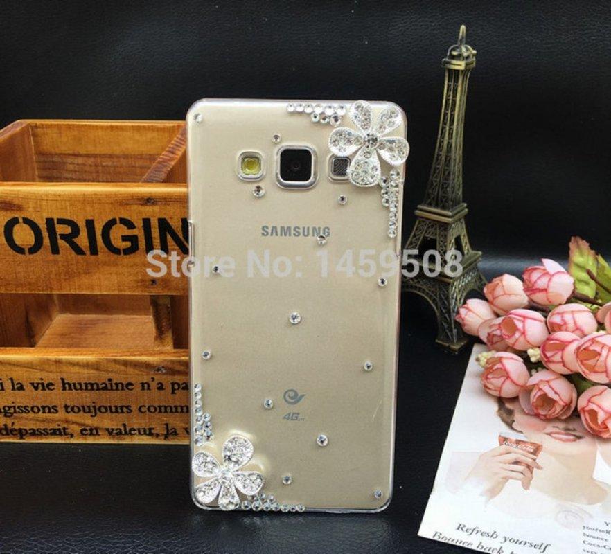 """Чехол (Diamond Crystal) для Samsung Galaxy Grand 2 Duos G7102 G7105 G7106 5.25 """"дюймов ручной работы со стразами."""