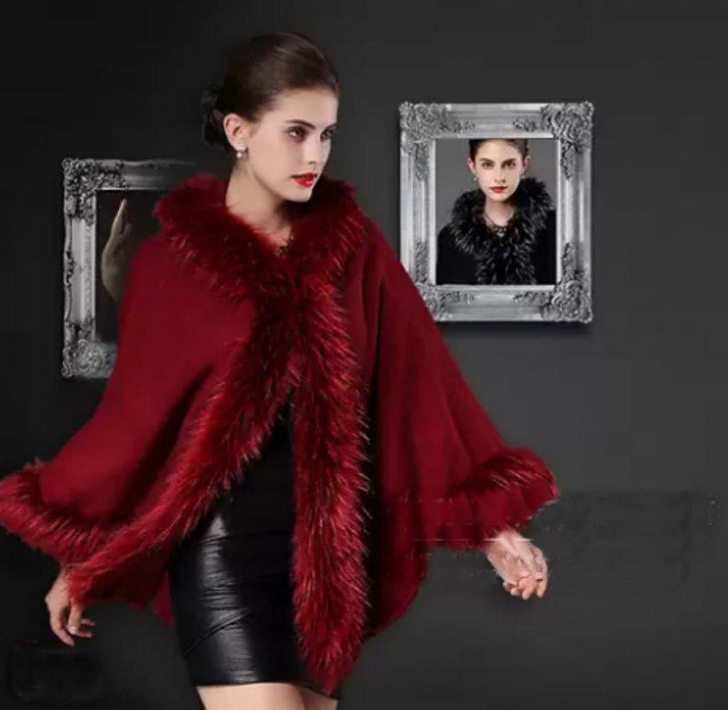Элегантная, модная зимняя женская накидка-воротник из лиса.