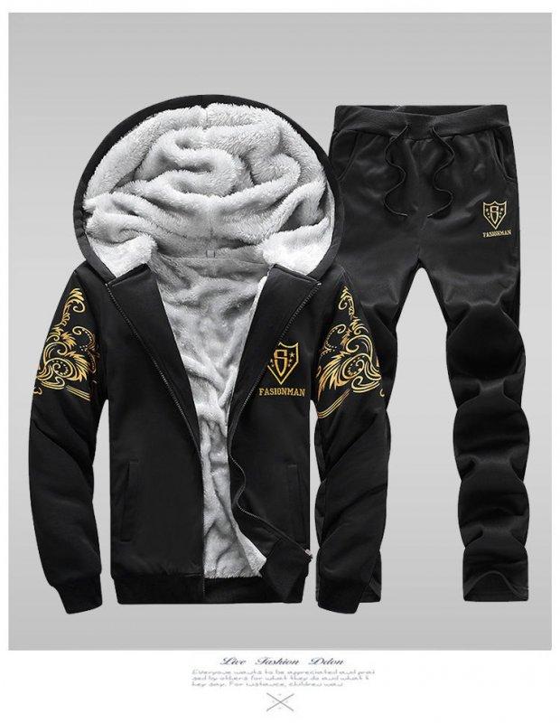 Зимние теплые, спортивные костюмы-толстовки для мужчин с капюшоном.