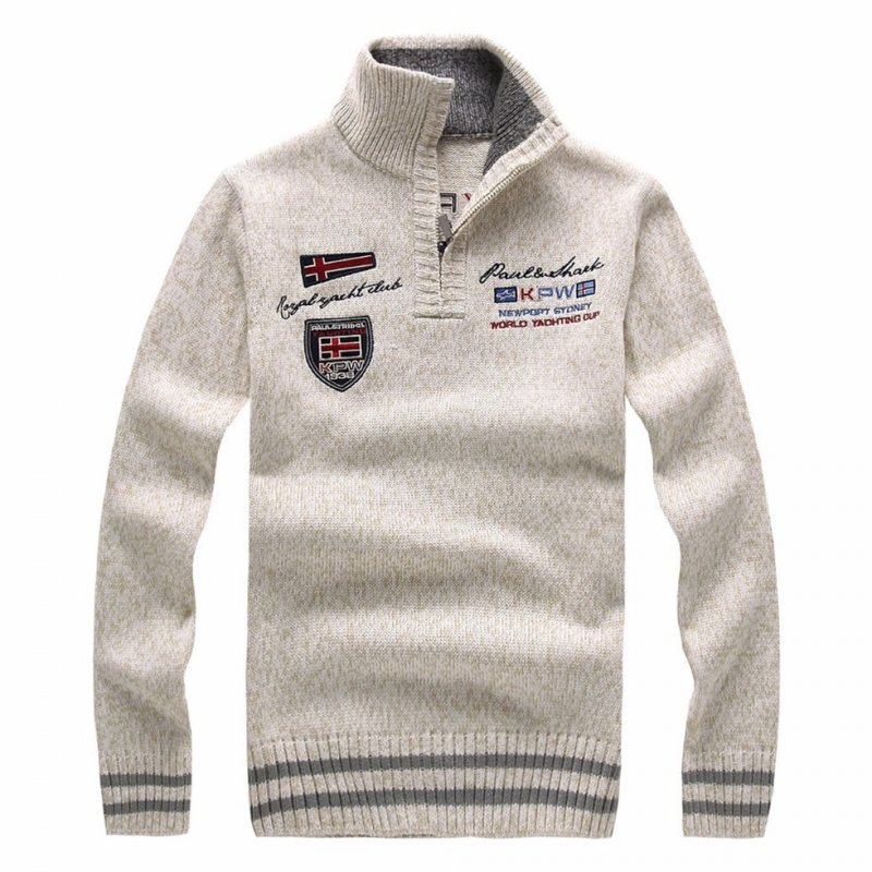 Модный вязаный шерстяной свитер для мужчин.