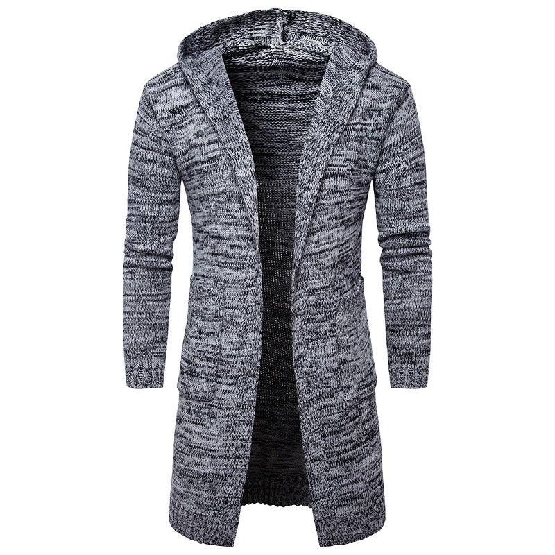 Мужской вязанный. шерстяной кардиган свободного покроя (Бизнес одежда)