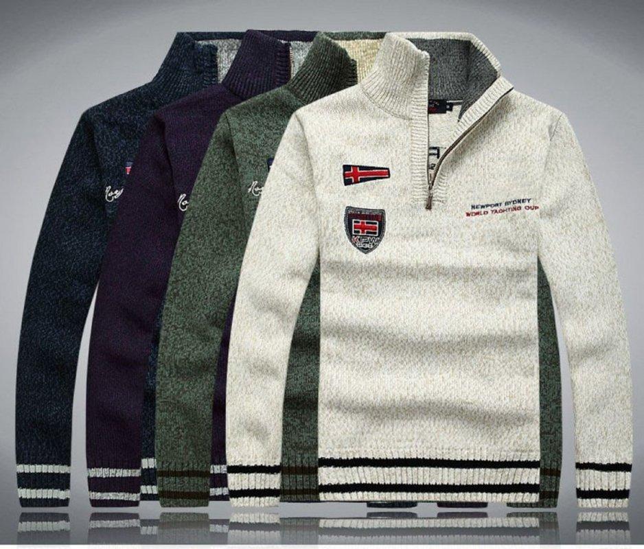 Утолщеный вязаный кашемировый свитер-(Sueter)-(100% шерсть)
