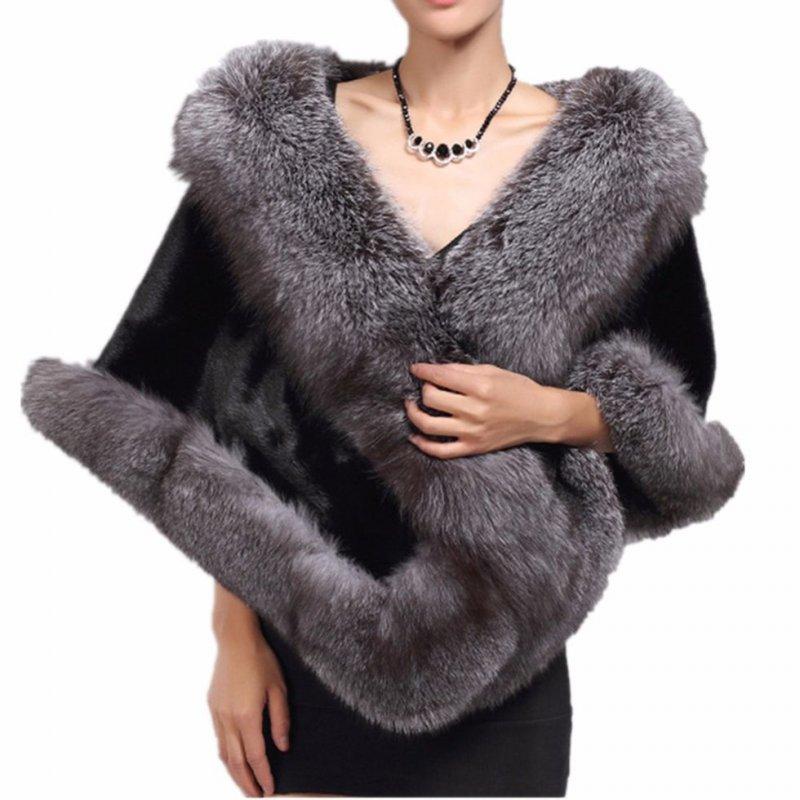 Женская шаль сискусственного лисьего меха.