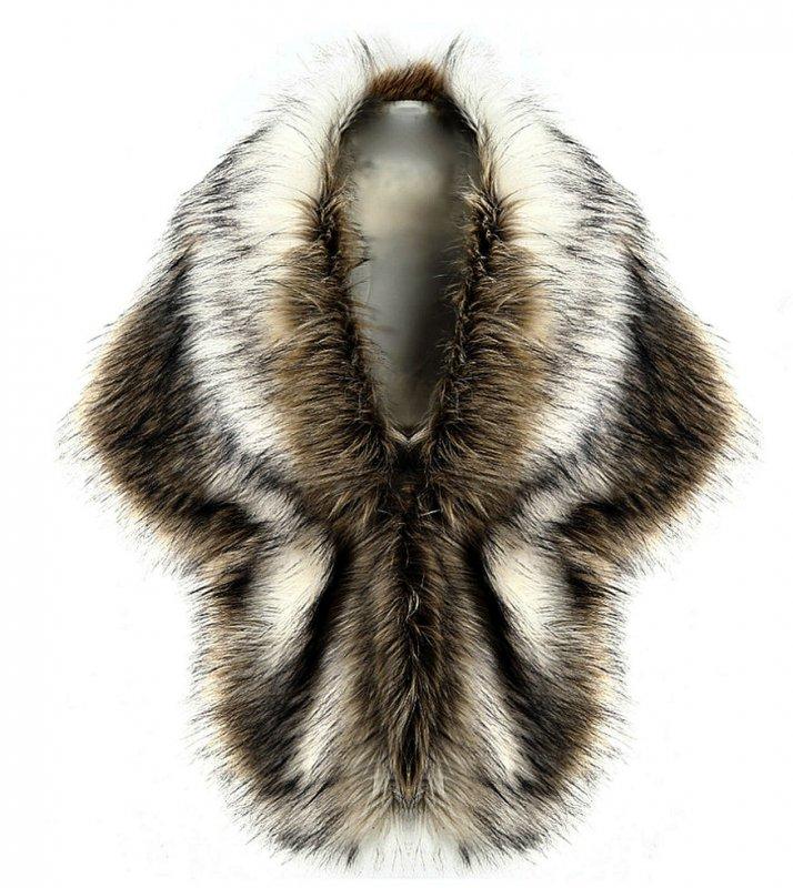 Женские роскошные шали из искусственного лисьего меха.