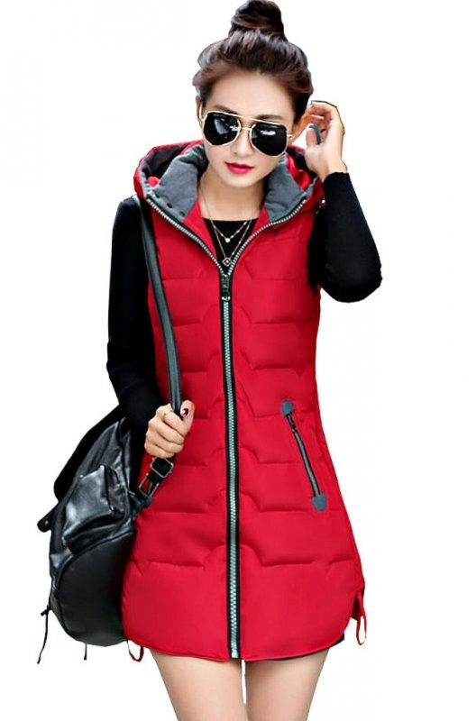 Женский теплыйдлинный жилет-куртка (Colete Feminino)