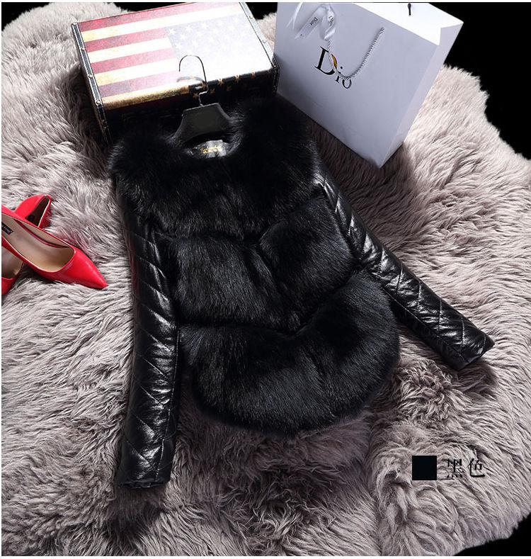 Жилет+куртка женская с лисьего меха 2 в 1