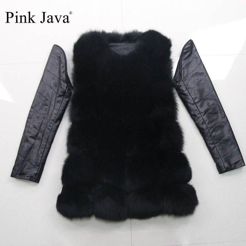 Жилет+куртка (2 в 1)  женская с натурального лисьего меха