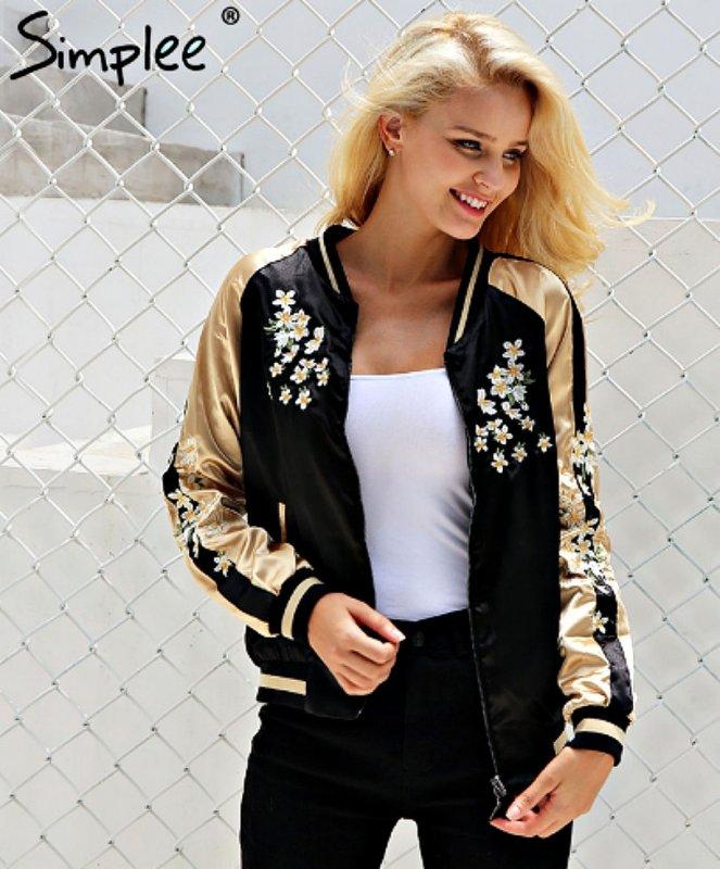 Атласная куртка-пилот для женщин.