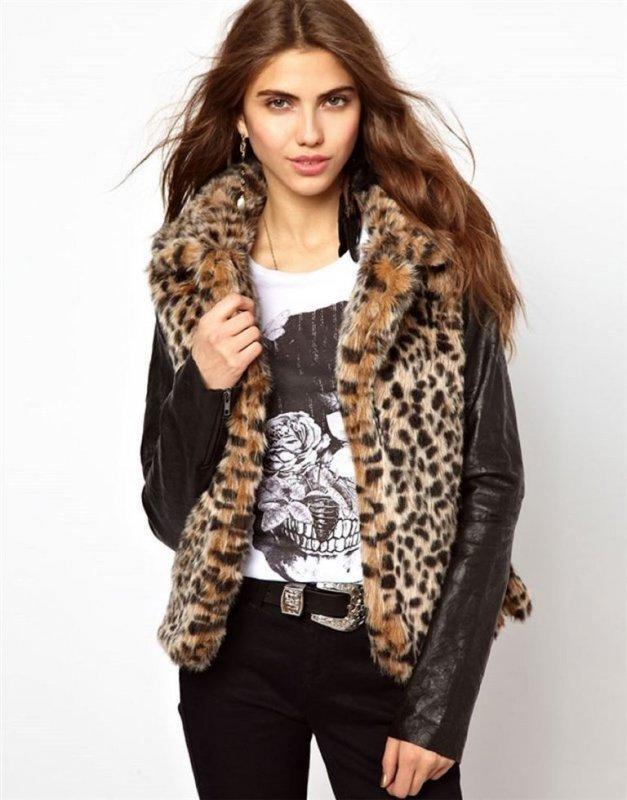 Европейский и Американский бренд-зимние куртки для леди с кожаным рукавом.