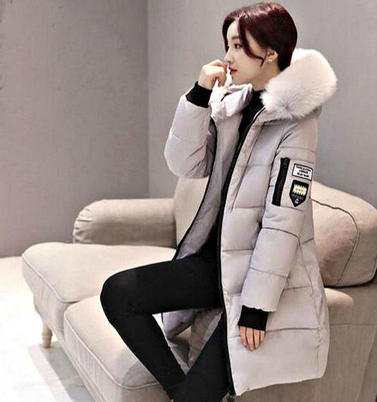 Женская зимняя куртка-парка с капюшоном