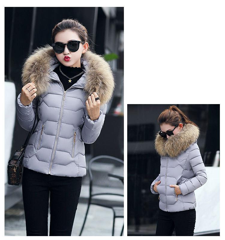 Модная зимняя женская куртка с капюшоном .