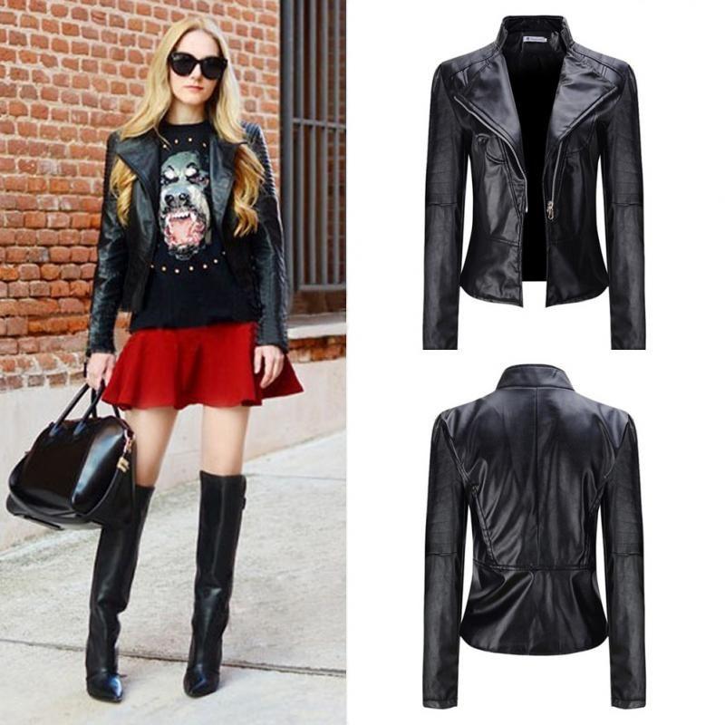 Модные кожаные куртки для женщин.