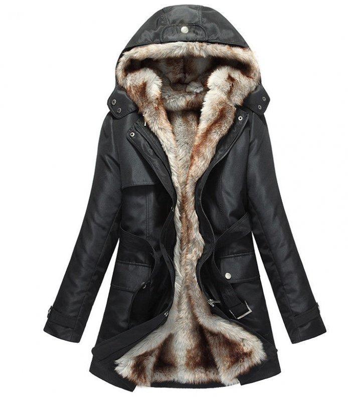 Теплая парка пальто с капюшоном на змейки.