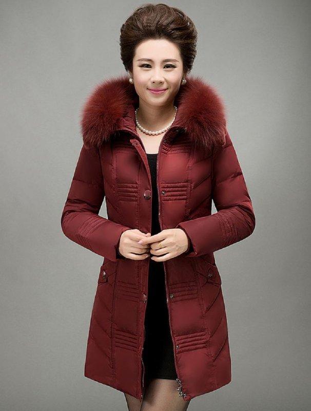 Толстые, теплые зимние куртки с капюшоном-(воротник лисий мех)