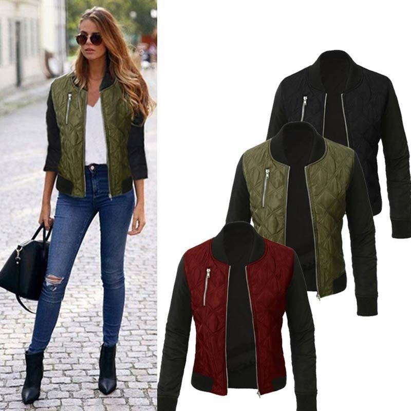 Утепленная куртка-(бомбер) для женщин с воротником стойка.