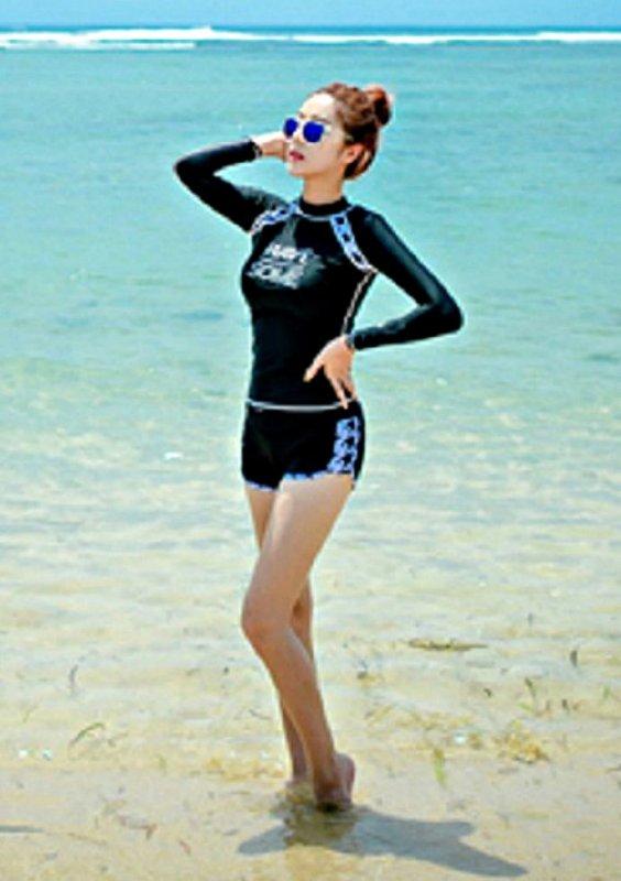 Женский спортивный костюм для серфинга с длинными рукавами