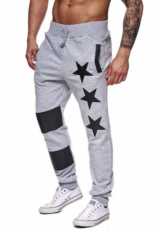 Спортивные эластичные брюки длямужчинс принтом со звездой-хип-хоп (джоггеры).
