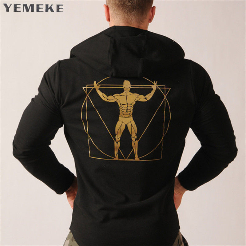 Спортивные толстовкихип-хоп для мужчин-(Yemeke) с капюшоном.