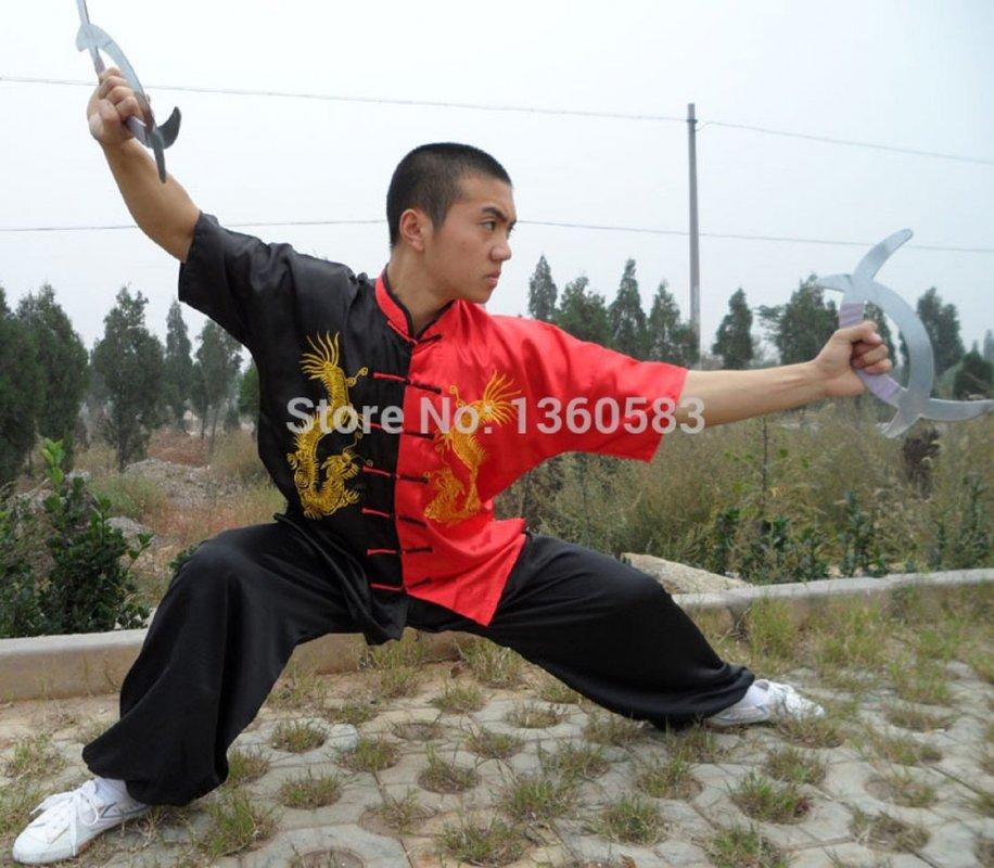 Костюм для боевых искусств вышивка драконов Шаолинь одежда ушу Крыло Чун