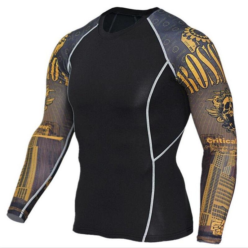 Мужские спортивные костюмы с длинным рукавом для Бодибилдинга, тяжелой атлетики, фитнеса и т. д.