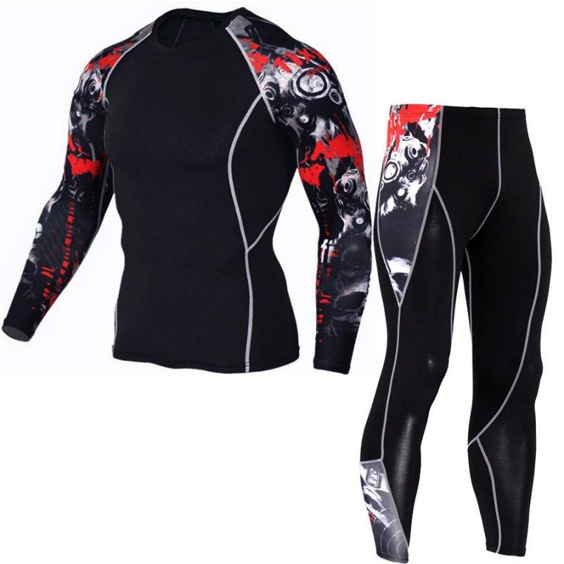 Спортивные костюмы 3D с длинным рукавом для Бодибилдинга, фитнеса и т. д.