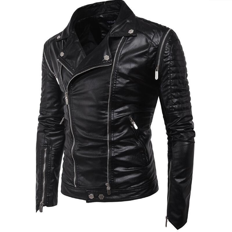 Байкерская кожаная куртка-жилет для мужчин с отстегивающими рукавами.