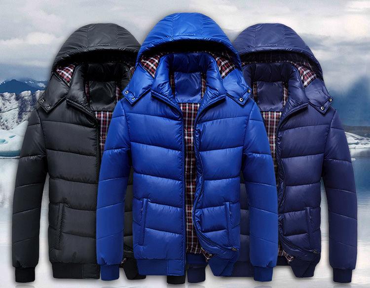 Брендовая зимняя пуховая куртка-парка для мужчин с капюшоном.
