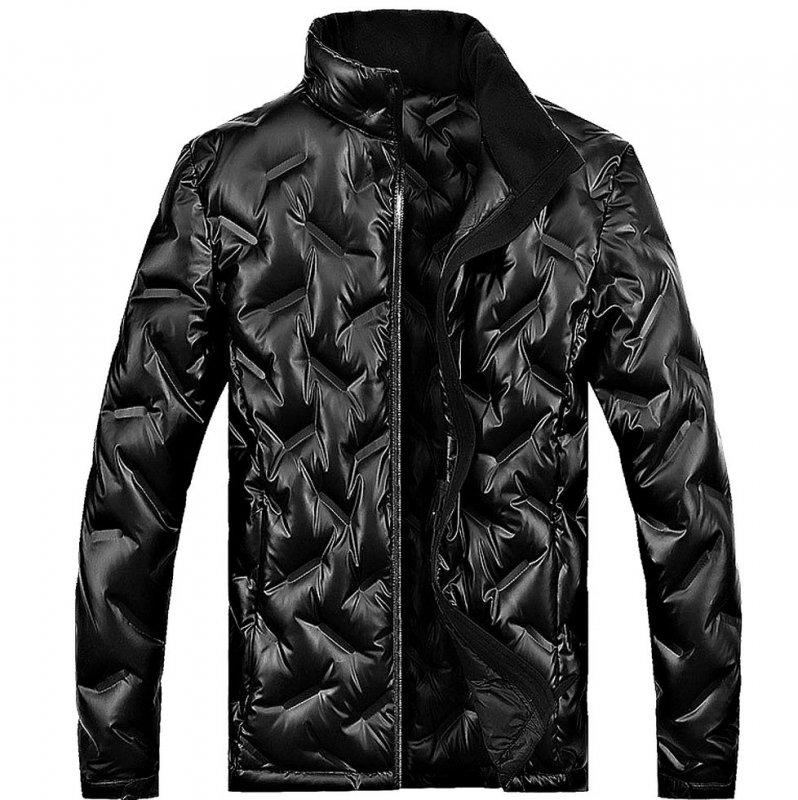 Брендовая толстая теплая мужская зимняя куртка-парка с белого утиного пуха.